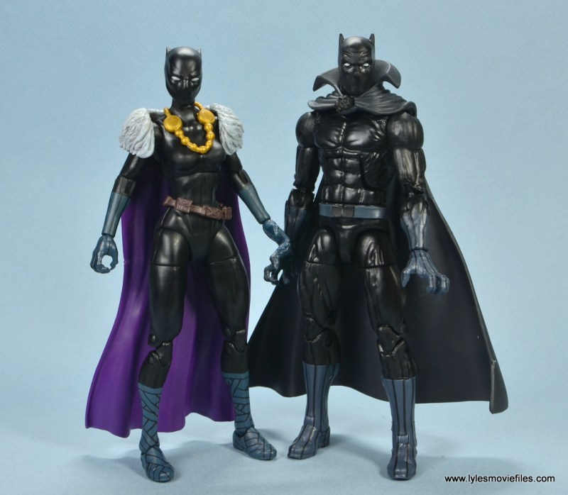 marvel legends shuri and klaw figure review -with black panther