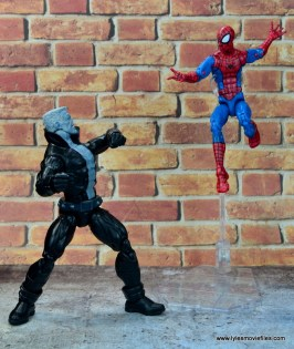 marvel legends tombstone figure review -spider-man arrives