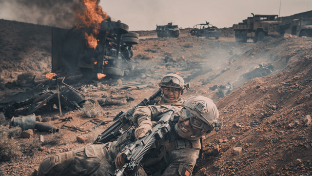 operation red sea movie review - on the battlefield