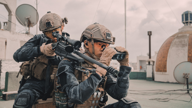 operation red sea movie review - sniper shot