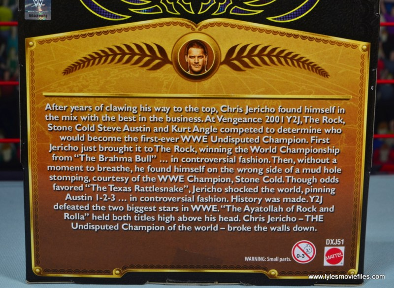 wwe defining moments chris jericho figure review - package bio