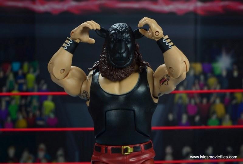 wwe elite 44 braun strowman figure review - wearing black sheep mask