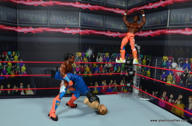 wwe elite 52 new day figure review - kofi about to launch from top rope