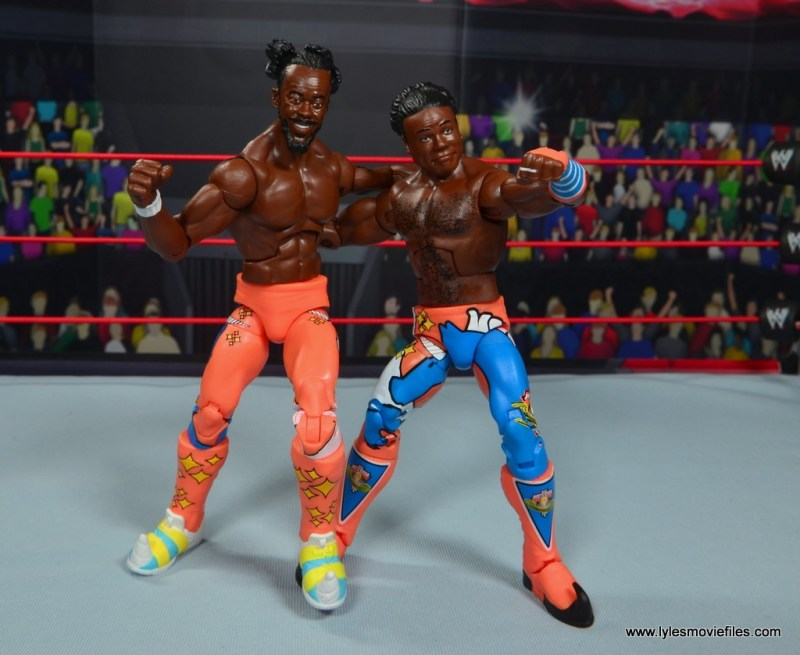 wwe elite 52 new day figure review -kofi and xavier standing tall