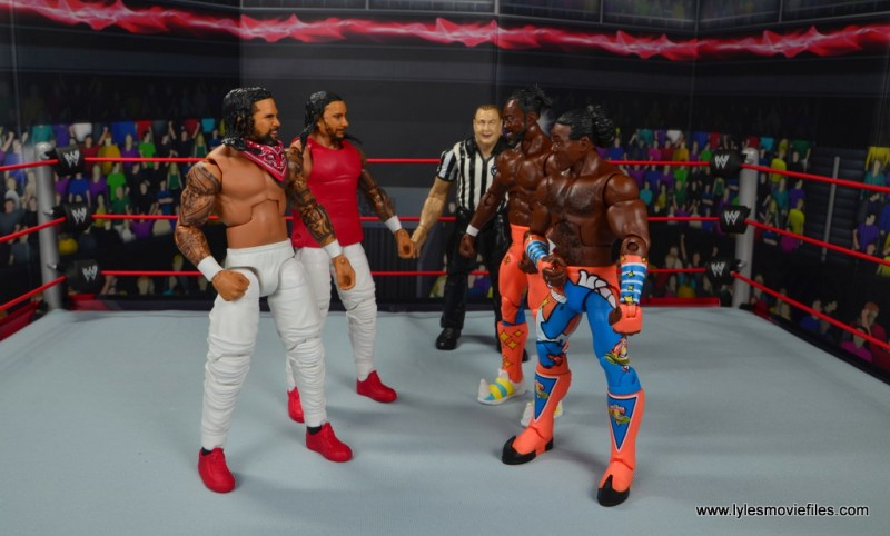 wwe elite 54 the usos jimmy and jey usos figure review - face off with the new day