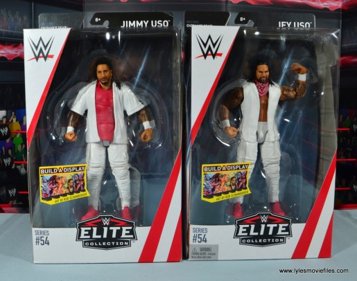 wwe elite 54 the usos jimmy and jey usos figure review - package front