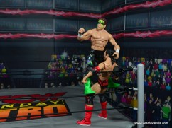 wwe elite bash at the beach sting figure review - corner punching scott hall