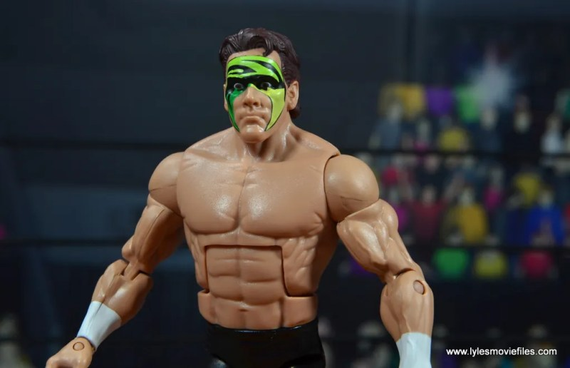 wwe elite bash at the beach sting figure review - facepaint detail