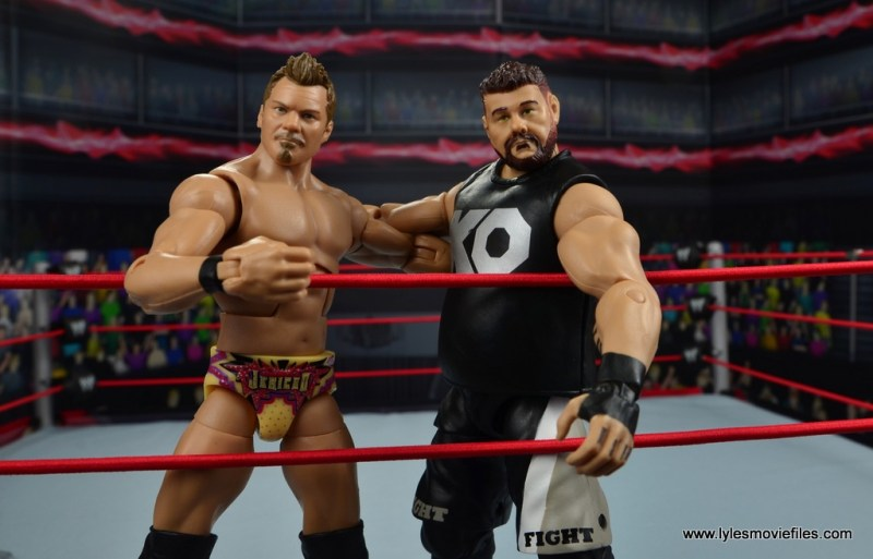 wwe elite chris jericho the list exclusive figue review -best friends with kevin owens