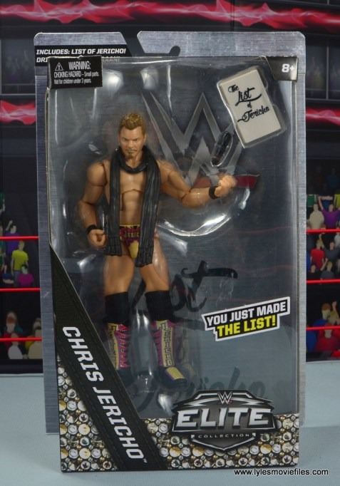wwe elite chris jericho the list exclusive figue review - package front