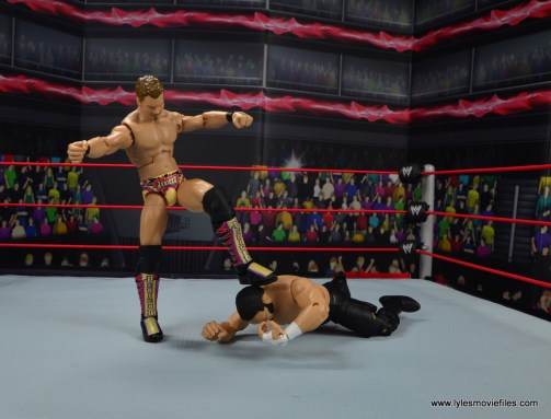 wwe elite chris jericho the list exclusive figue review -stomping on samoa joe