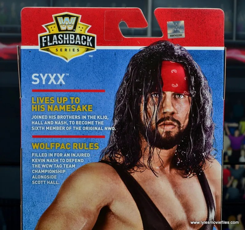 wwe elite syxx figure review - package bio