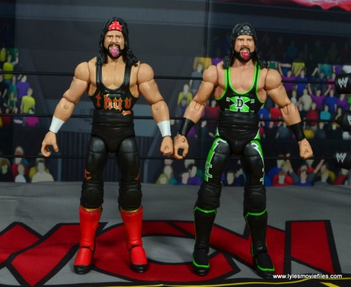 wwe elite syxx figure review - side by side with x-pac