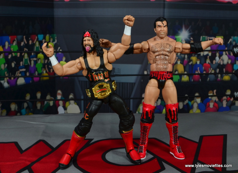 wwe elite syxx figure review - with cruiserweight title and scott hall