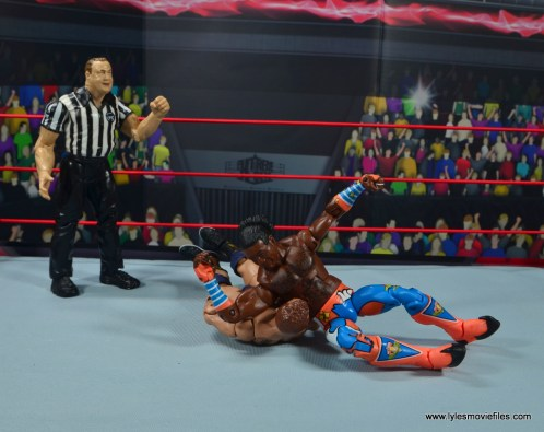 wwe elite xavier woods figure review -elbow drop