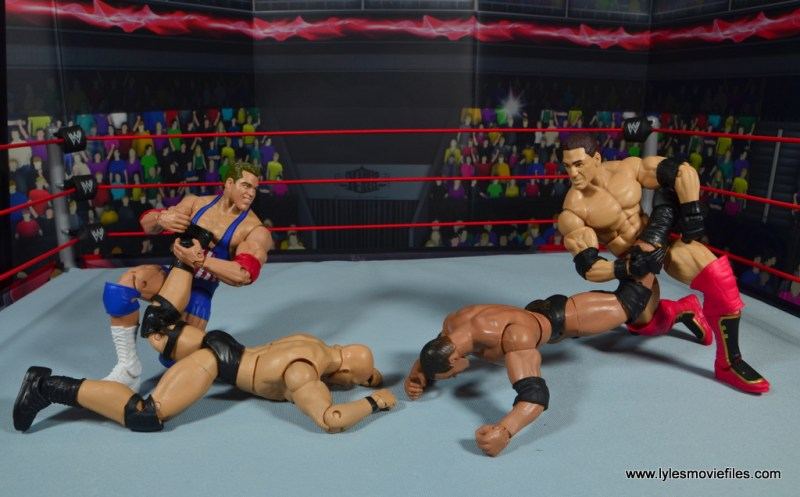 wwe entrance greats kurt angle figure review - ankle lock face off with ken shamrock