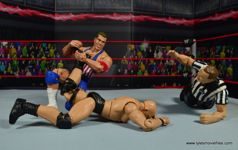 wwe entrance greats kurt angle figure review - ankle lock to stone cold