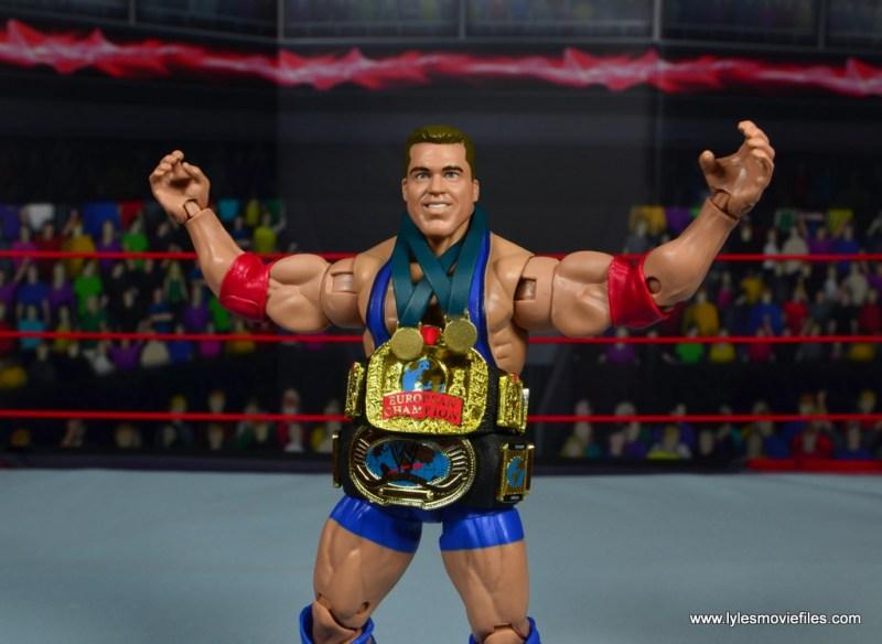 wwe entrance greats kurt angle figure review - the eurocontinental champion