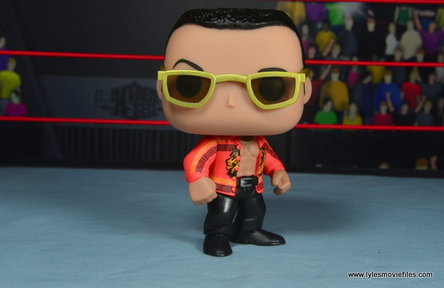 Funko Pop! WWE The Rock figure review - head to the right