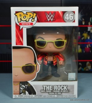 Funko Pop! WWE The Rock figure review - package front