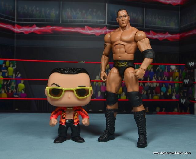 Funko Pop! WWE The Rock figure review - with Mattel Elite The Rock figure