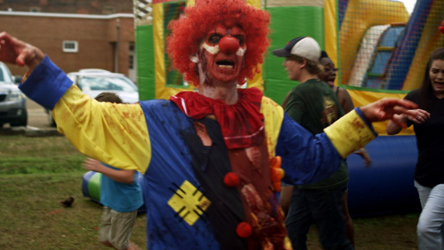 attack of the southern fried zombies review - killer clown
