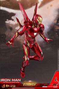 hot toys avengers infinity war iron man figure -flying with arms down