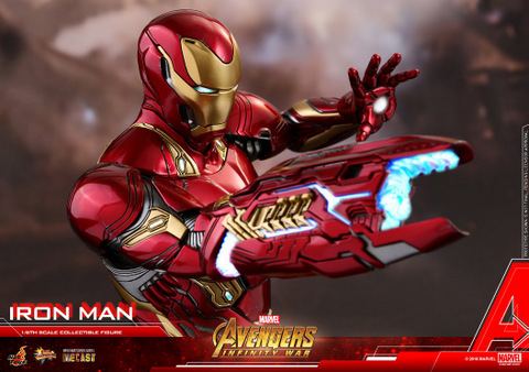 hot toys avengers infinity war iron man figure -lit up cannon