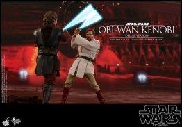 hot toys revenge of the sith obi wan kenobi figure - battling anakin