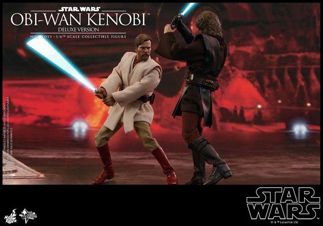 hot toys revenge of the sith obi wan kenobi figure -fighting anakin