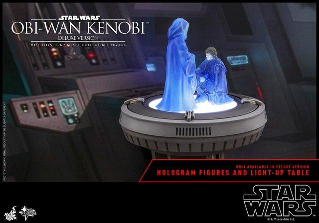 hot toys revenge of the sith obi wan kenobi figure -hologram table
