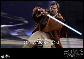 hot toys revenge of the sith obi wan kenobi figure -robe on