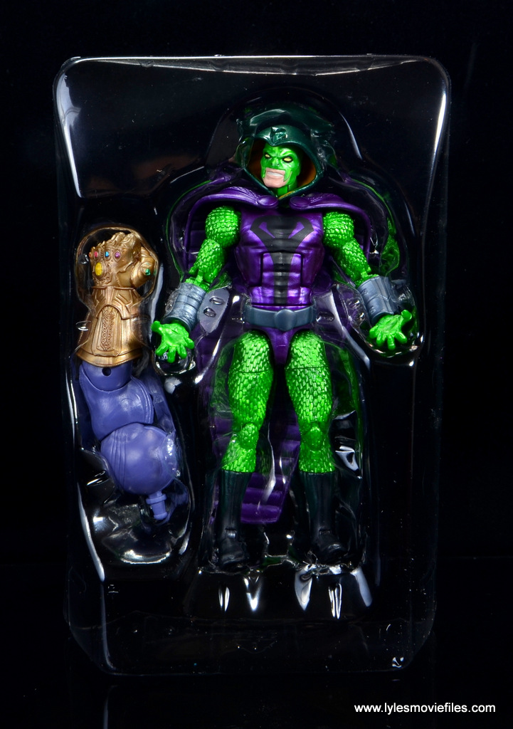 marvel legends king cobra figure review - accessories in tray