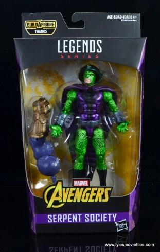 marvel legends king cobra figure review - package front