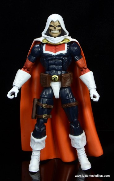 marvel legends taskmaster figure review - front