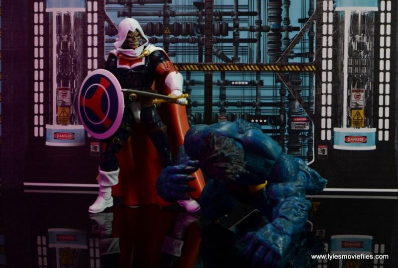marvel legends taskmaster figure review - getting the jump on beast