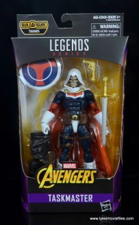 marvel legends taskmaster figure review - package front
