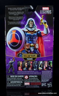 marvel legends taskmaster figure review - package rear