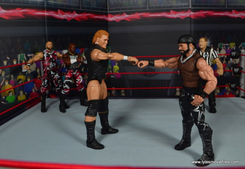 mb 1st round winners - Dudley Boyz vs Team Madness Team Madness powers activate