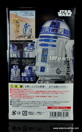 sh figuarts r2d2 figure review - package rear