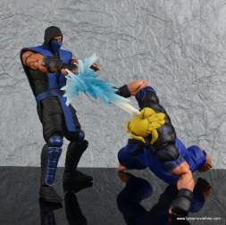 storm collectibles mortal kombat sub-zero figure review - ice blast to ken head