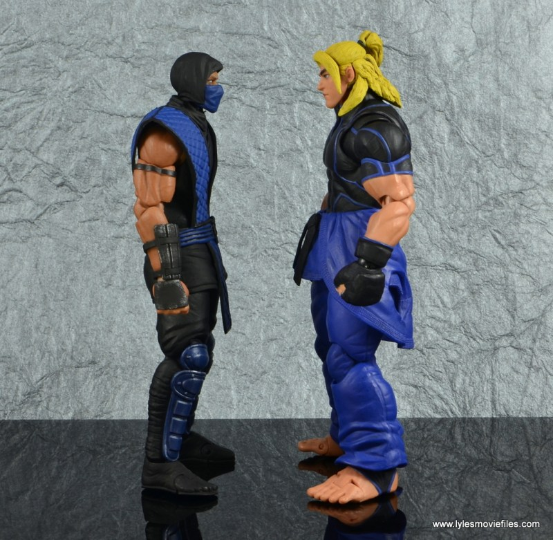 storm collectibles mortal kombat sub-zero figure review -scale with street fighter v ken