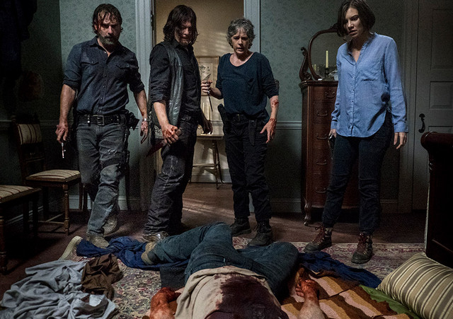 the-walking-dead-do not send us astray review rick, carol, maggie and daryl