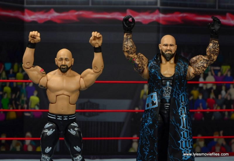 wwe elite 56 karl anderson and luke gallows figure review -celebration pose