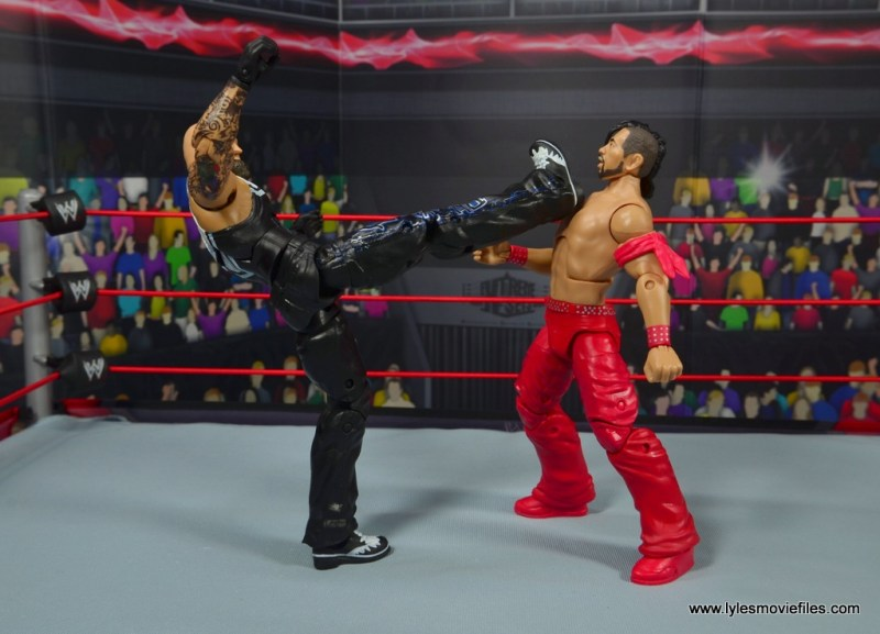 wwe elite 56 karl anderson and luke gallows figure review -gallows big boot to nakamura