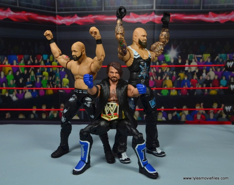 wwe elite 56 karl anderson and luke gallows figure review -the club with aj styles
