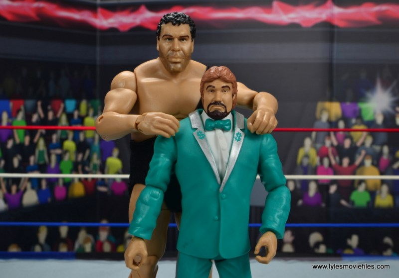 wwe million dollar man figure review -with andre the giant