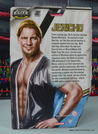 wwe ringside collectibles chris jericho figure review -package rear