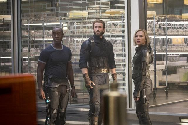 avengers infinity war movie review -rhodey, captain america and black widow