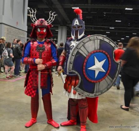 awesome con 2018 cosplay -full samuari spider-man and gladiator captain america